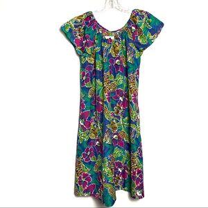Hilo Hattie Hawaiian Multicolored Dress Sz L B-46